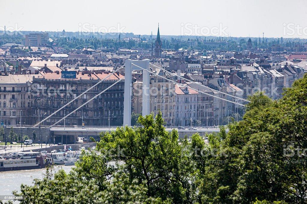 Elisabeth Bridge Budapest Hungary stock photo