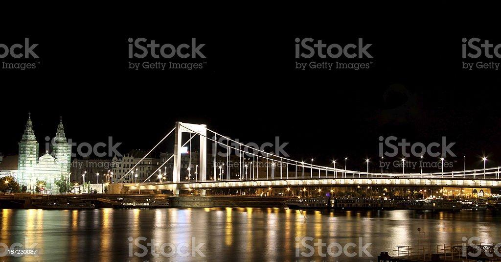 Elisabeth Bridge, Budapest royalty-free stock photo