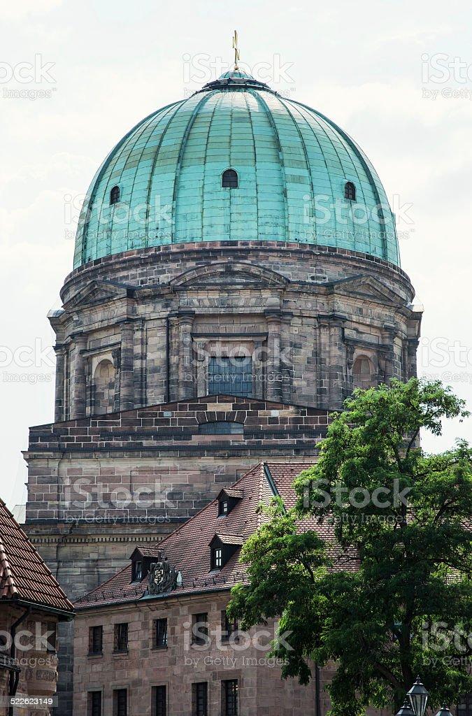 Elisabeth church dome in Nuremberg stock photo
