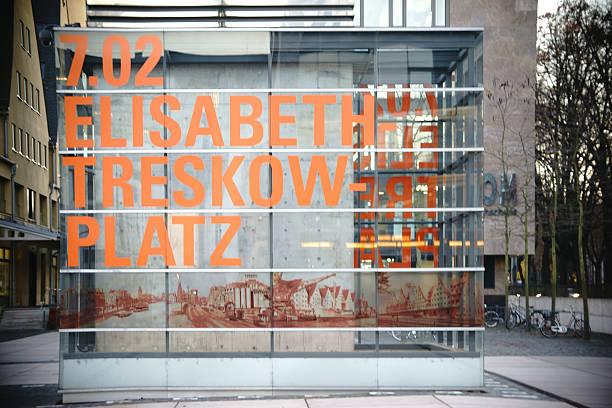 elisabeth-treskow-square cologne - restaurant köln stock-fotos und bilder