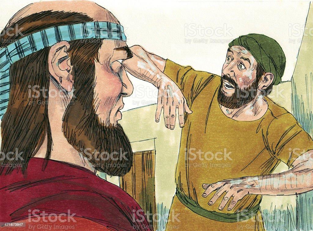 Elisha and Diseased Servant stock photo