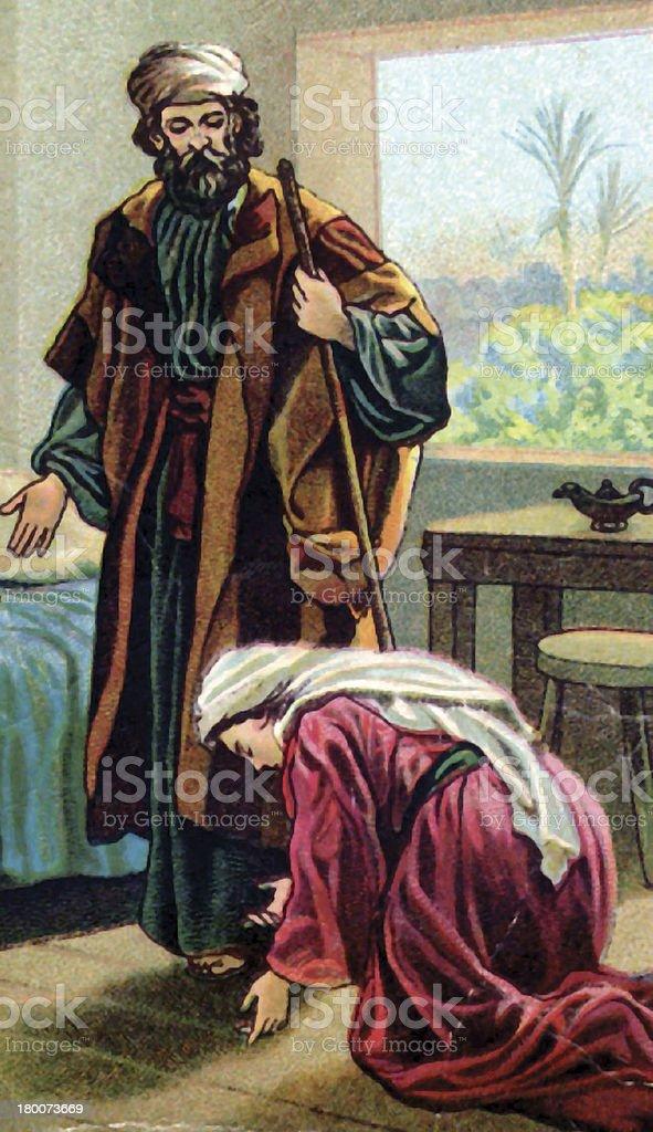 Elisha and the Widow stock photo