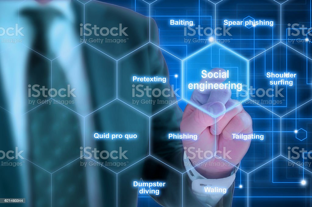 Elite hacker social engineering concept stock photo