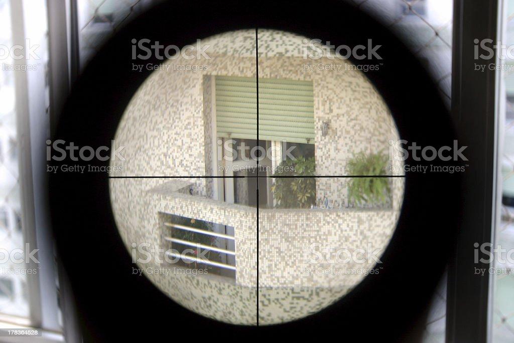 Elite shooter view stock photo