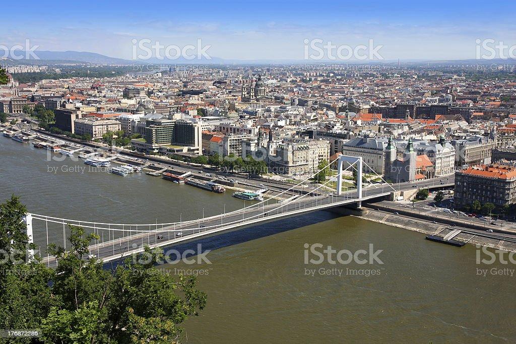 Elizabeth bridge, Budapest, Hungary royalty-free stock photo