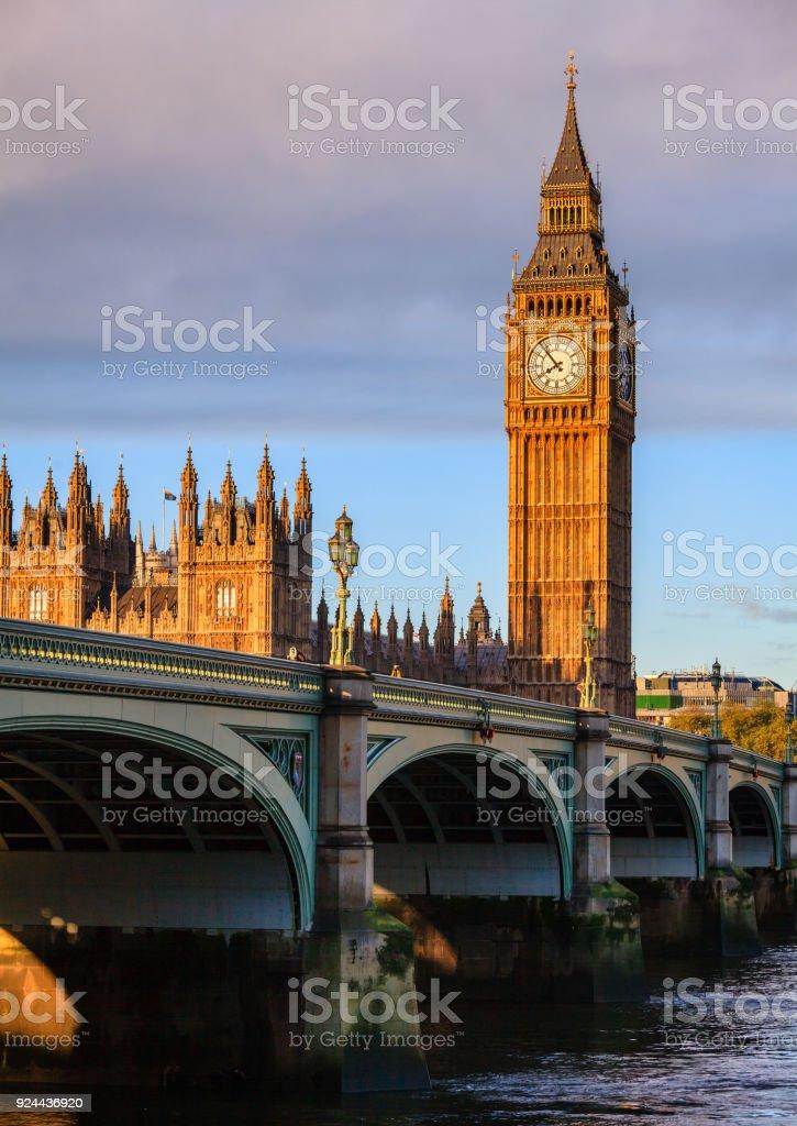 Elizabeth Tower Big Ben Palace of Westminster London UK stock photo