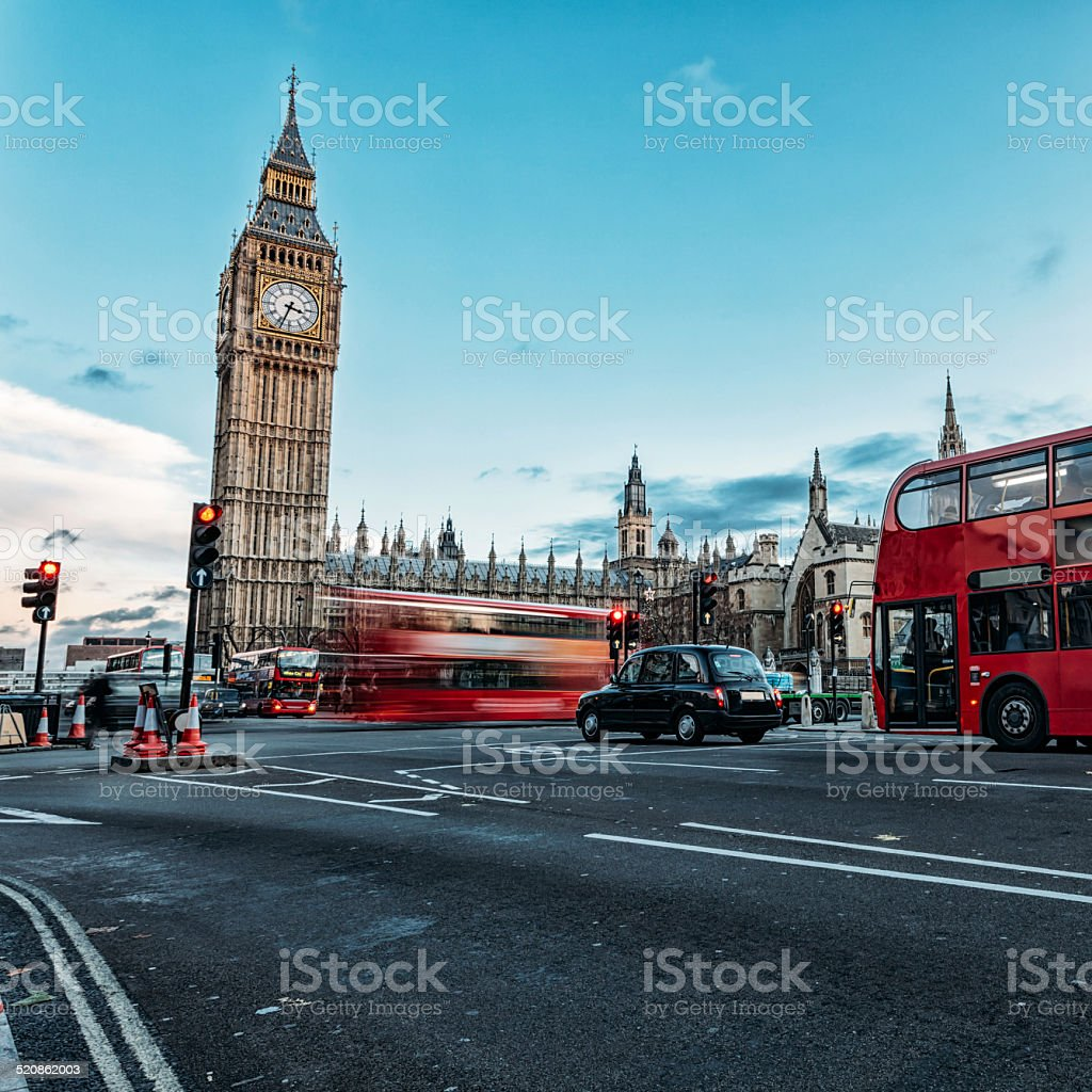 Elizabeth tower in London stock photo