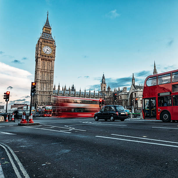 elizabeth tower in london - big ben stock photos and pictures