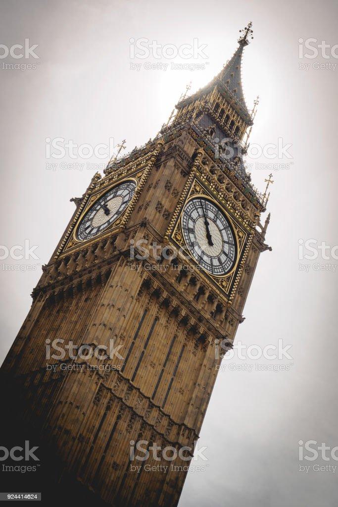 Elizabeth Tower (Big Ben). London. stock photo
