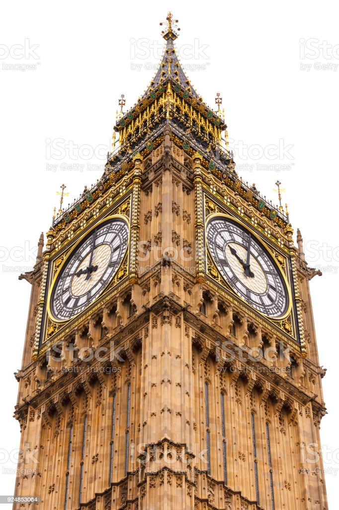 Elizabeth Tower or Big Ben Houses of Parliament Westminster Palace London UK stock photo