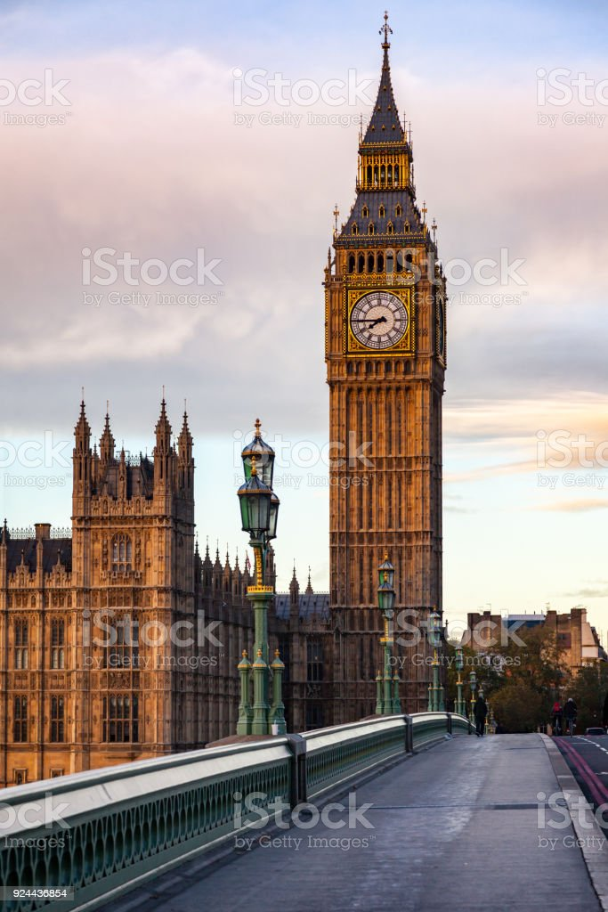 Elizabeth Tower or Big Ben Palace of Westminster London UK stock photo