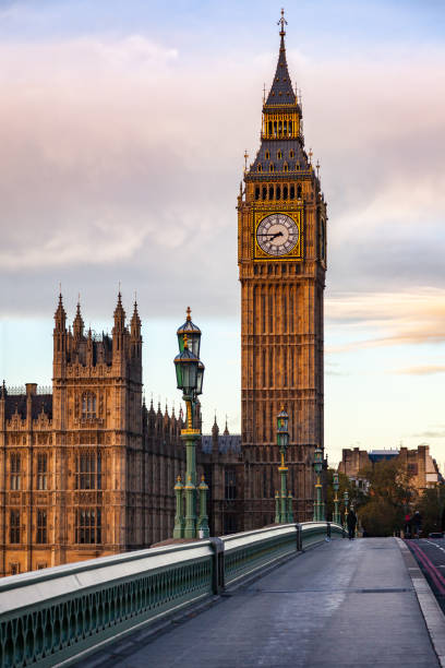 elizabeth tower or big ben palace of westminster london uk - big ben stock photos and pictures