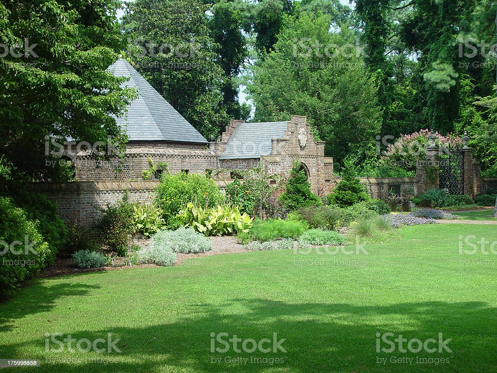 Elizabethan Gardens stock photo