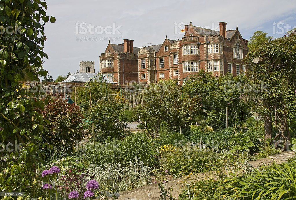 Elizabethan House and Garden royalty-free stock photo