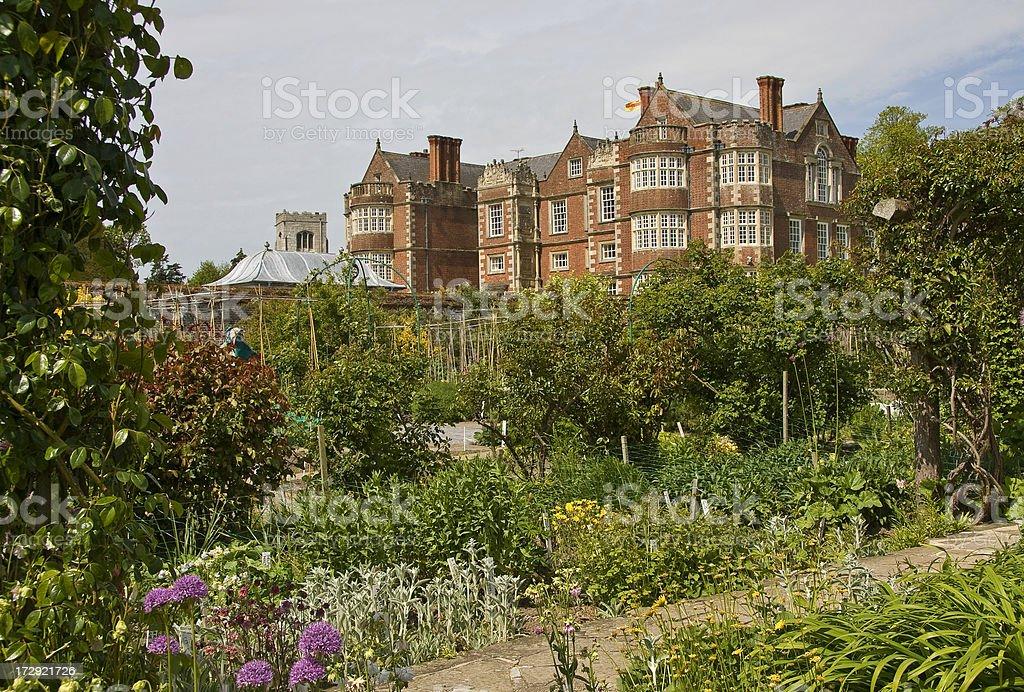 Elizabethan House and Garden stock photo