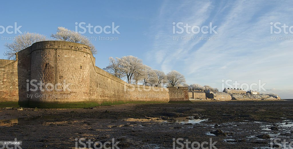 Elizabethan town walls, Berwick upon Tweed stock photo