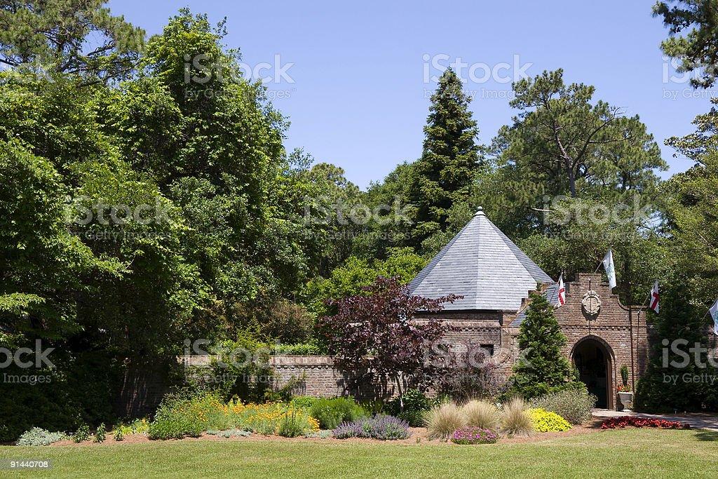 Elizabethean Gardens stock photo