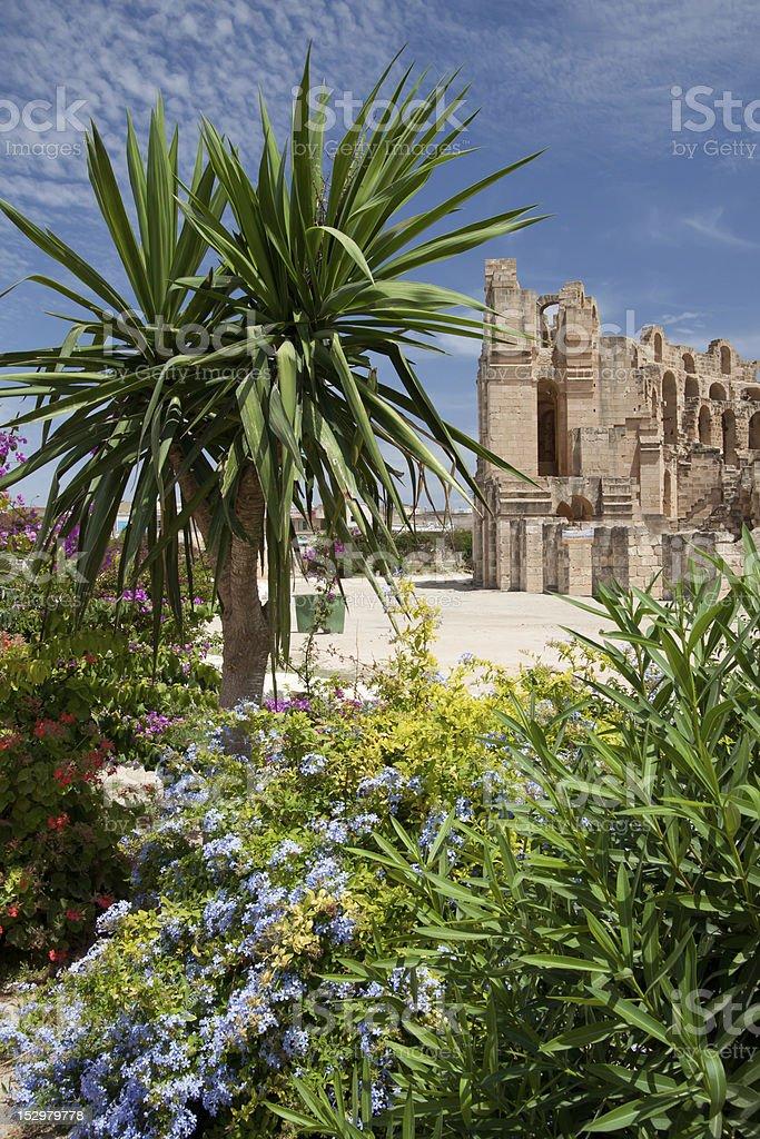 El-Jem Colosseum stock photo