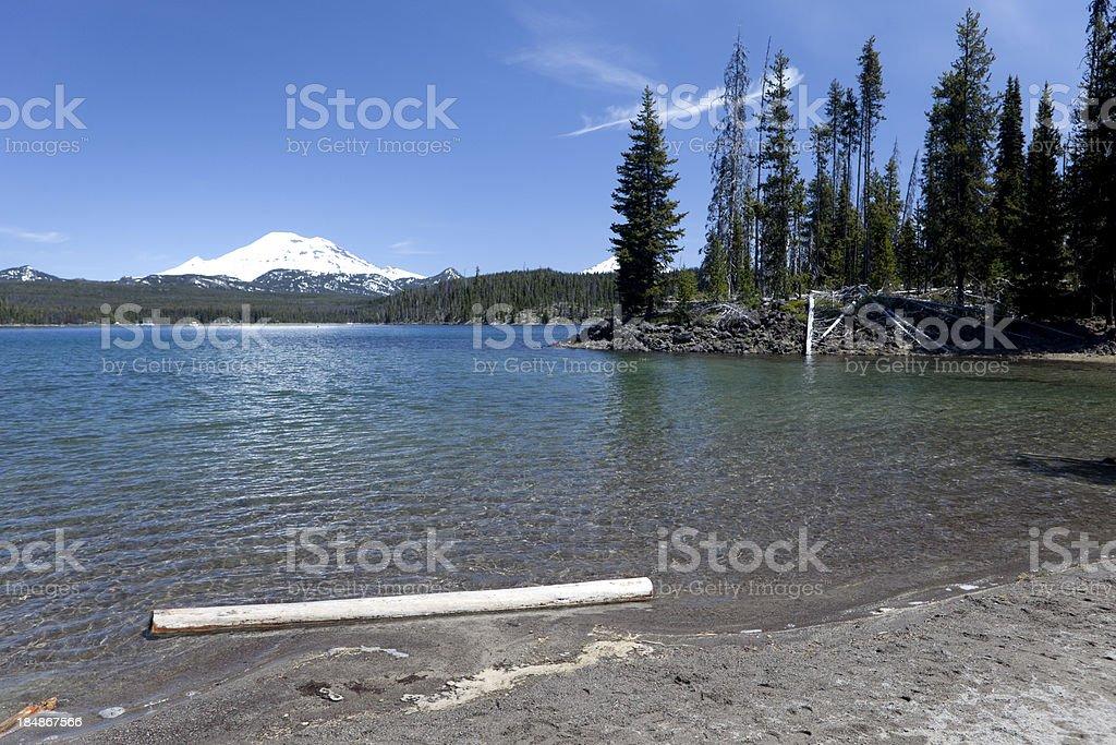 Elk Lake stock photo