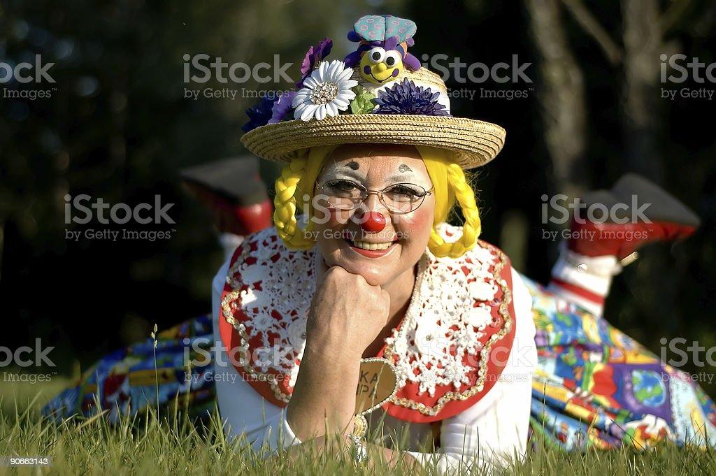Elka Umpa the Clown royalty-free stock photo