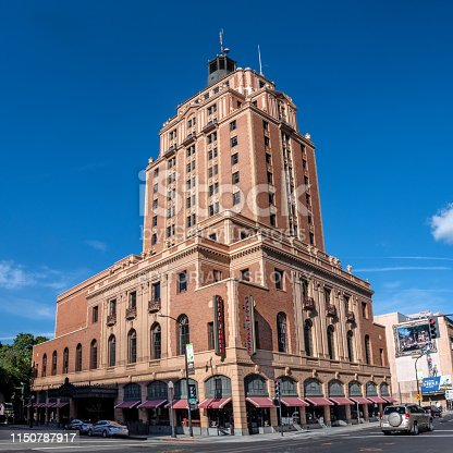 Historic vintage Elks Tower in Sacramento California Downtown