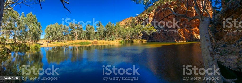 Ellery Creek Big Hole in the Northern Territory Australia stock photo