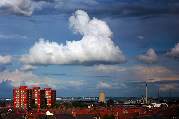 Ellesmere Port Landscape stock photo