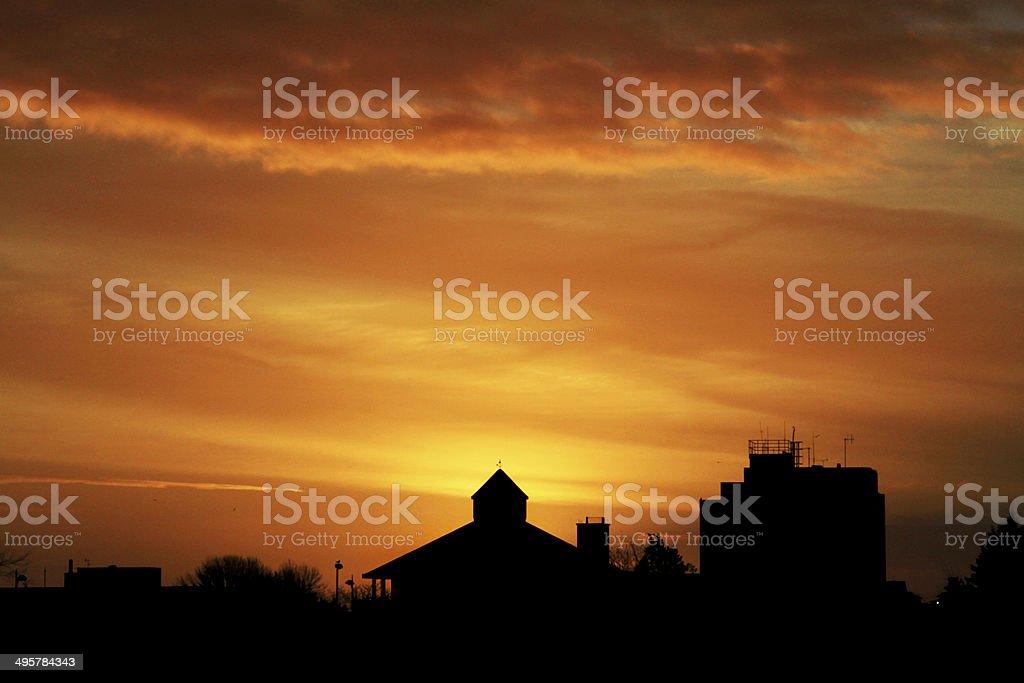 Ellesmere Port Sunrise stock photo