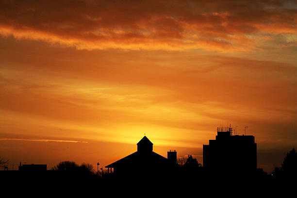 Ellesmere Port Sunrise stock photo