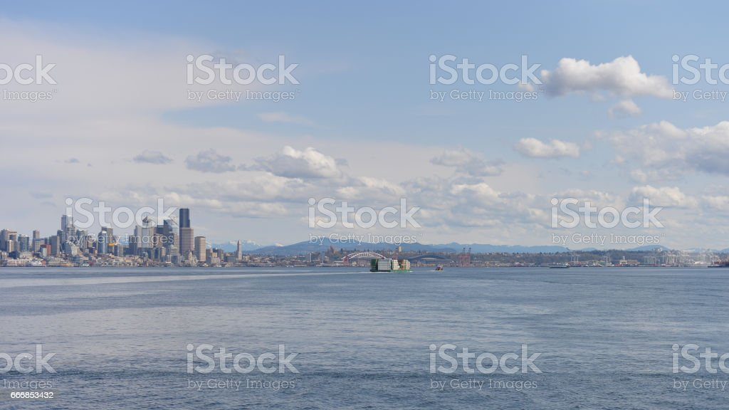 Elliot Bay Waterfront stock photo