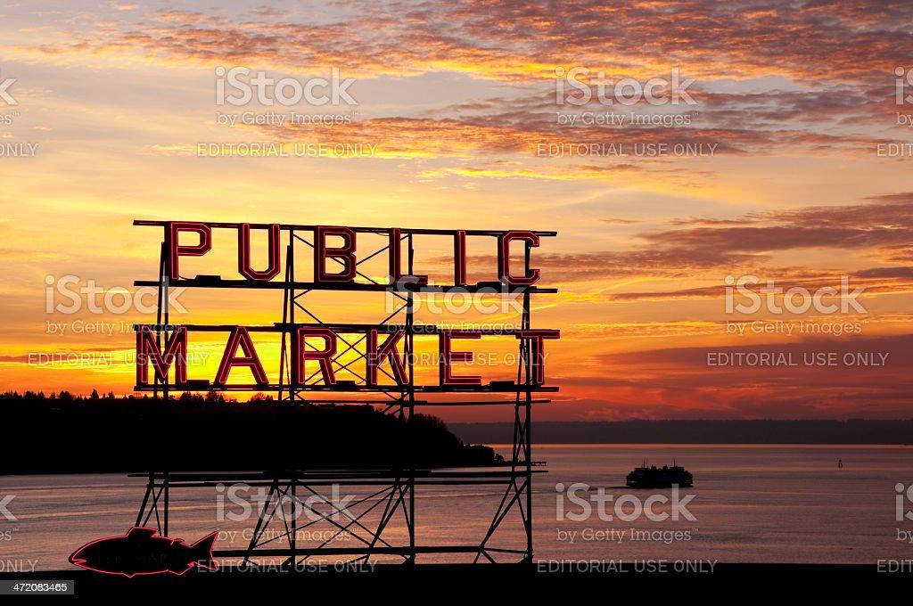 Elliott Bay stock photo