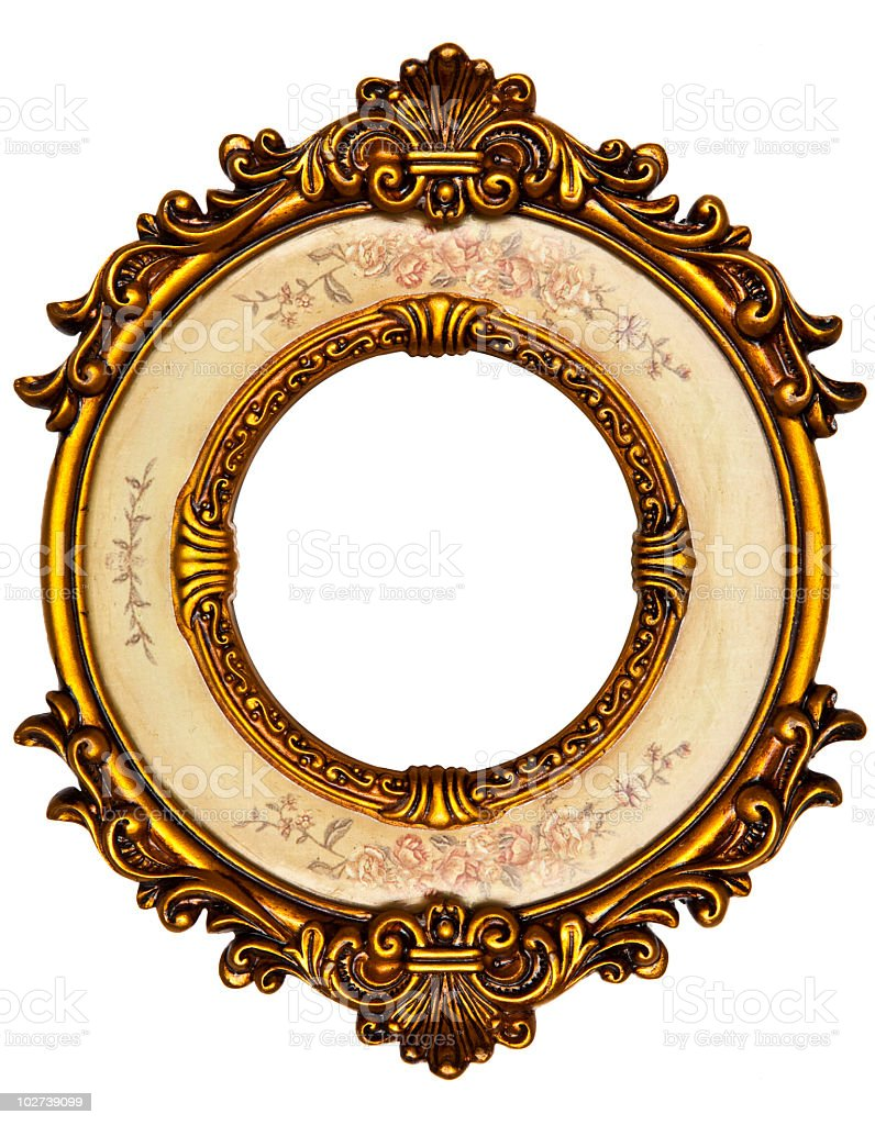 Ellipse Oval Picture Frame royalty-free stock photo