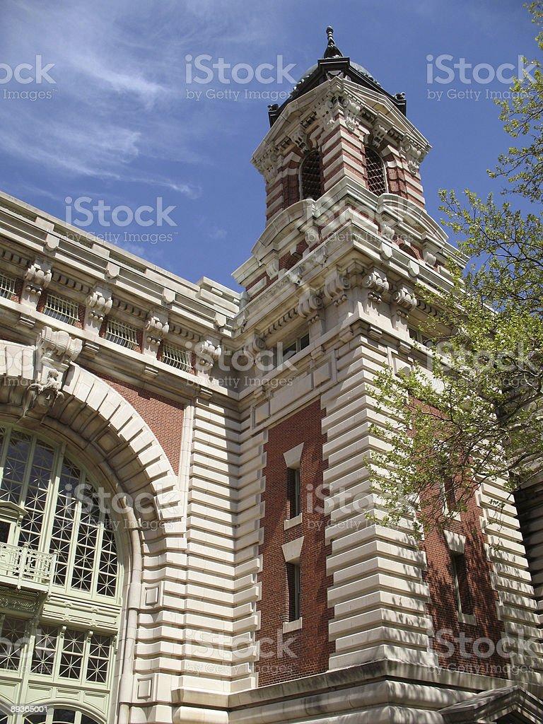 Architecture d'Ellis Island photo libre de droits