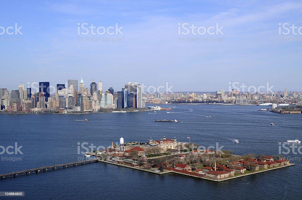 Ellis Island in New York City stock photo