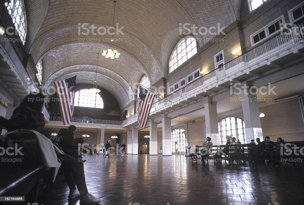 NYC - Ellis Island interior stock photo