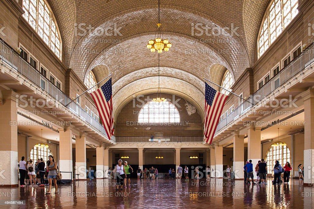Ellis Island New York City stock photo