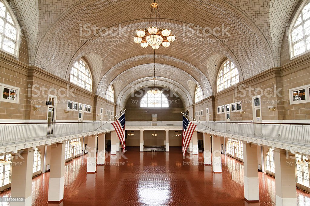 Ellis Island stock photo