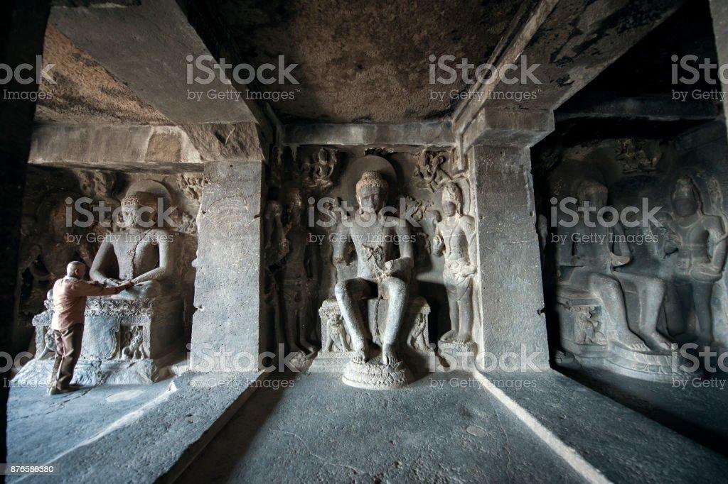 Ellora Caves UNESCO World Heritage Site stock photo