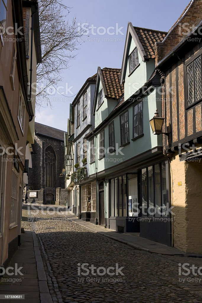 Elm Hill, Norwich royalty-free stock photo