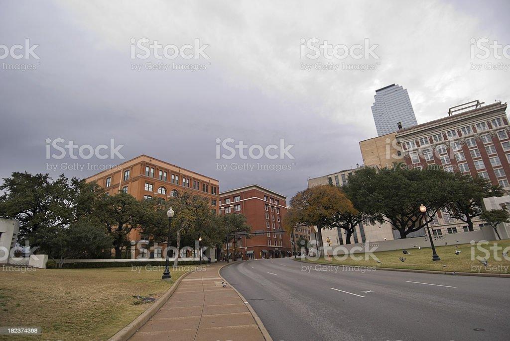 Elm street, Dealey Plaza royalty-free stock photo
