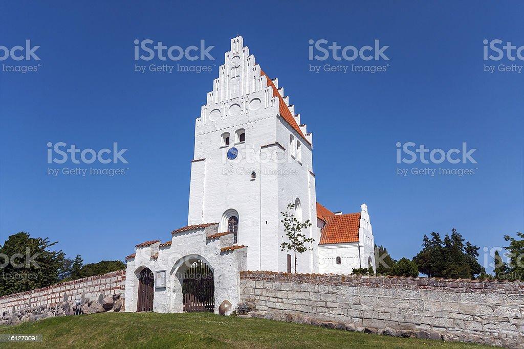 Elmelunde Church (Moen, Denmark) stock photo