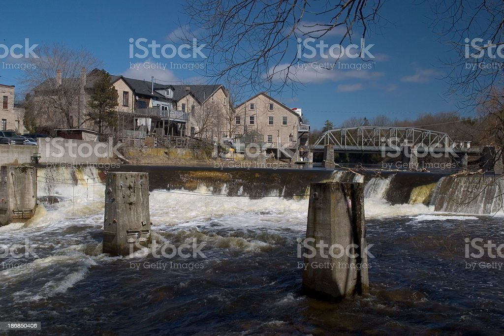 Elora on the Grand River royalty-free stock photo