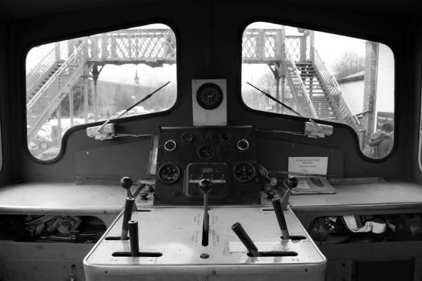 Elsecar Heritage Railway Station & Depot In Black & White stock photo