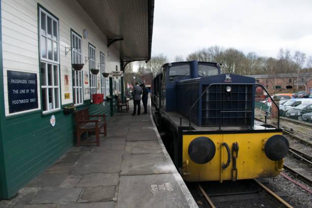 Elsecar Heritage Railway Station & Depot stock photo
