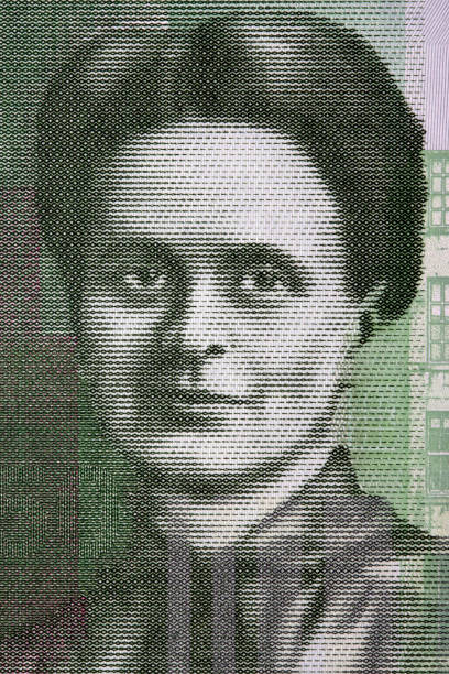 Elsie Inglis a portrait from Scottish money Elsie Inglis a portrait from Scottish money - Pounds suffragist stock pictures, royalty-free photos & images
