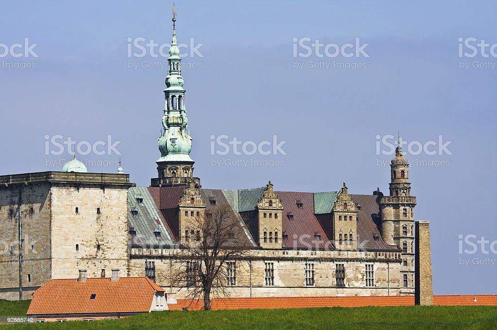 Elsinore castle stock photo