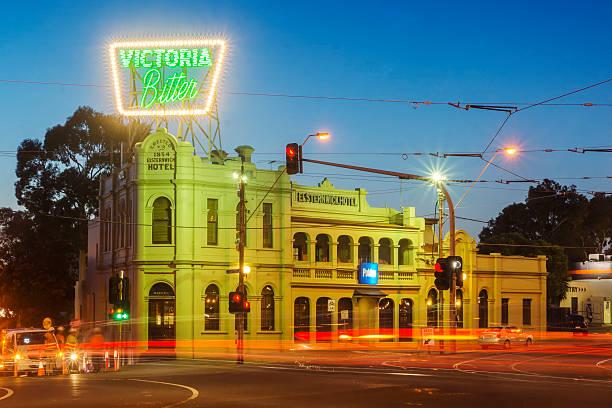 Elsternwick Hotel (Victoria Bitter sign) stock photo