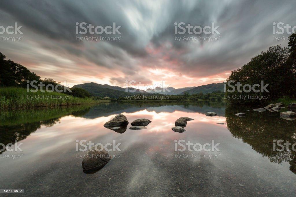 Elterwater, UK Lake District stock photo