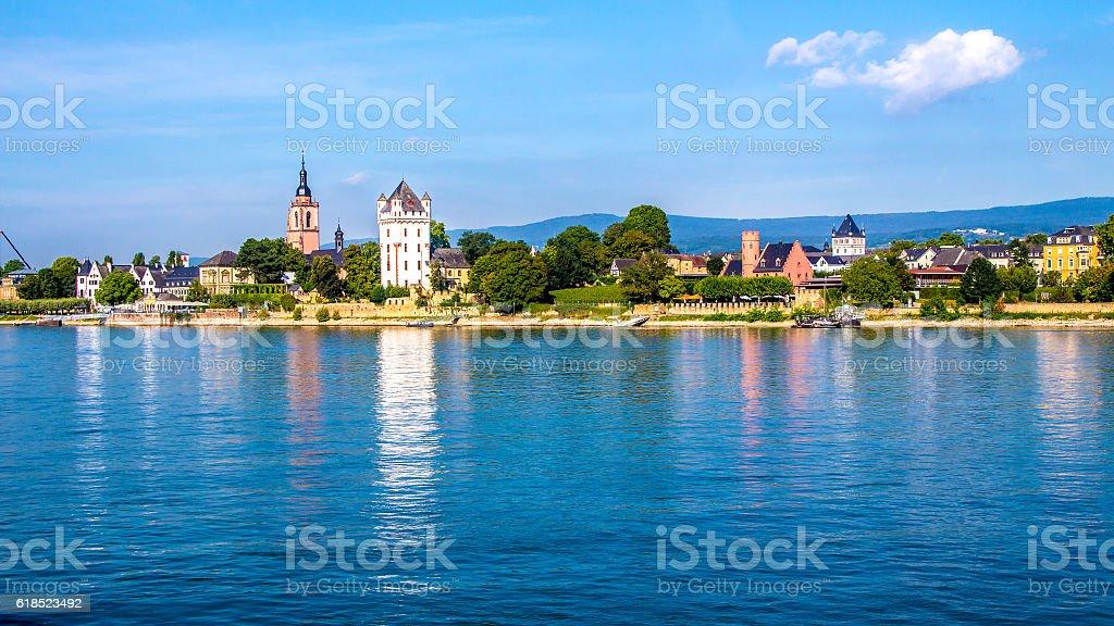 Eltville am Rhein, along the Rhine River in Germany stock photo