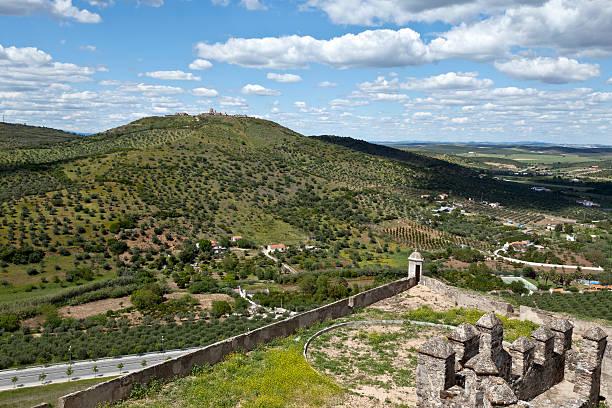 elvas-vista do forte da graca - portalegre imagens e fotografias de stock